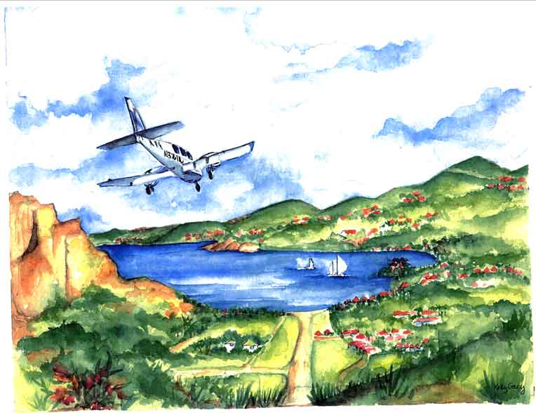 St. Barth's Airport - The Landing